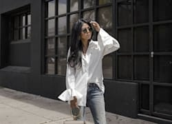Street style tip of the day: Gold star blouse
