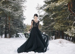 How to Wear Black on Your Wedding Day Without Looking Gothic