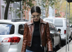 Selena Gomez's Leather Jacket and Loafers Look for Less